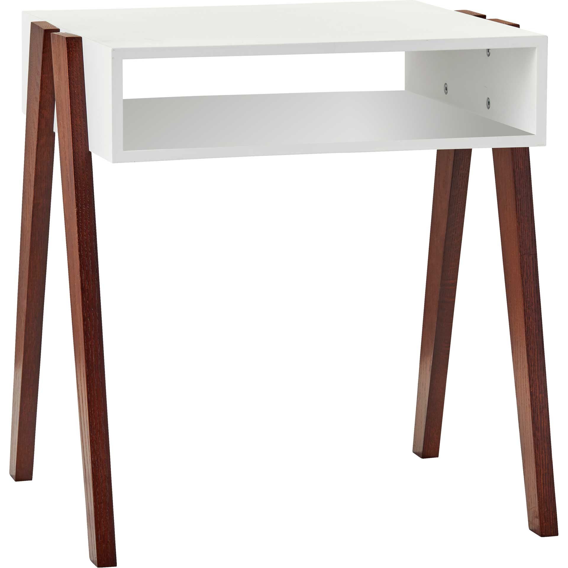 Laon End Table White/Walnut