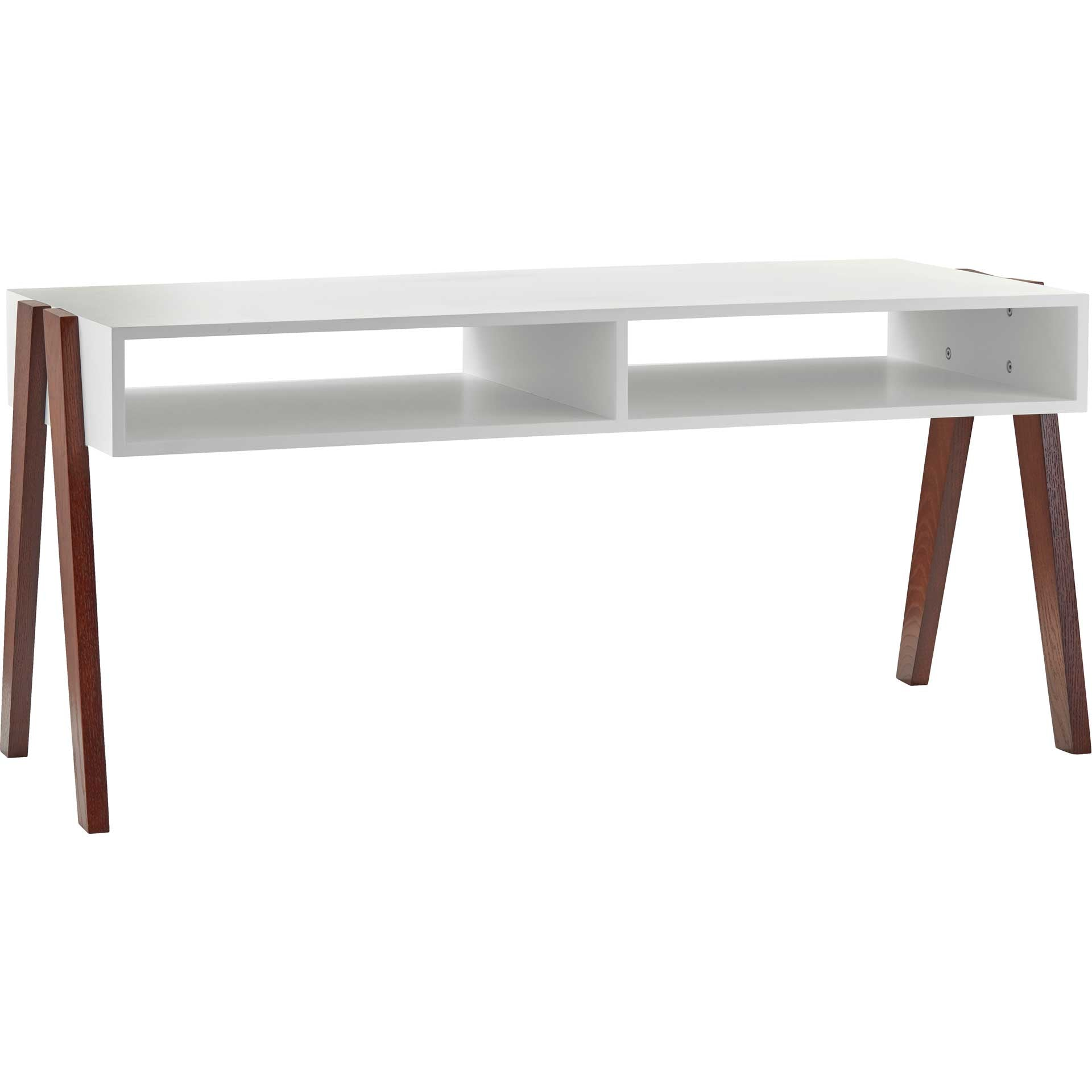 Laon Coffee Table White/Walnut