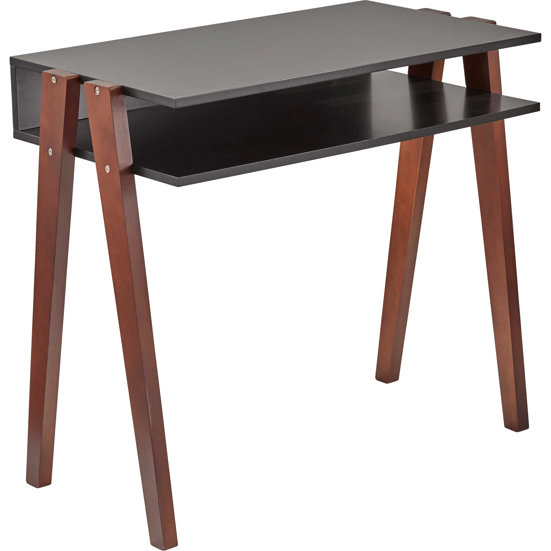 Laon Desk Black/Walnut