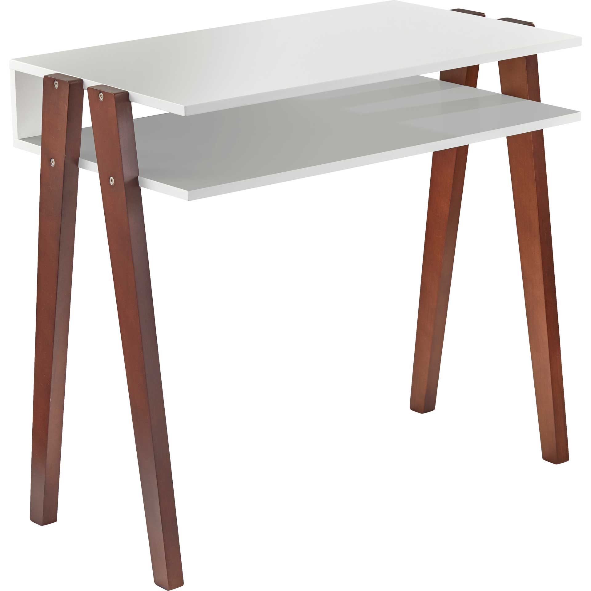 Laon Desk White/Walnut