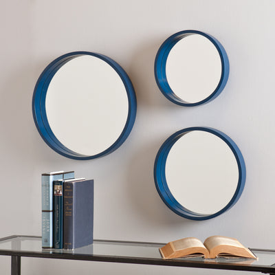 Daws Wall Mirror Navy (Set of 3)