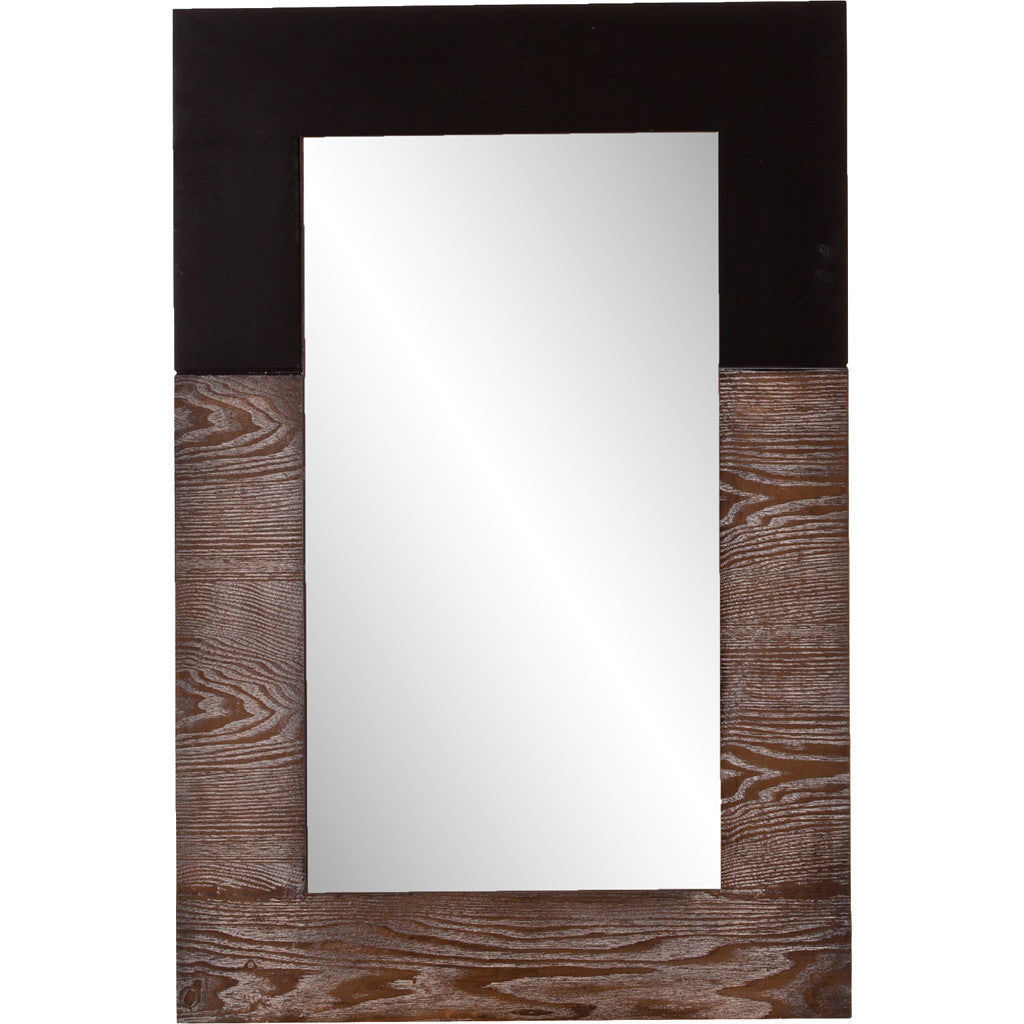 Wagars Wall Mirror Burnt Oak/Black