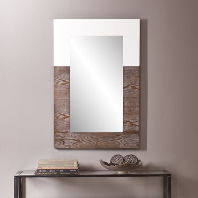 Wagars Wall Mirror Burnt Oak/White
