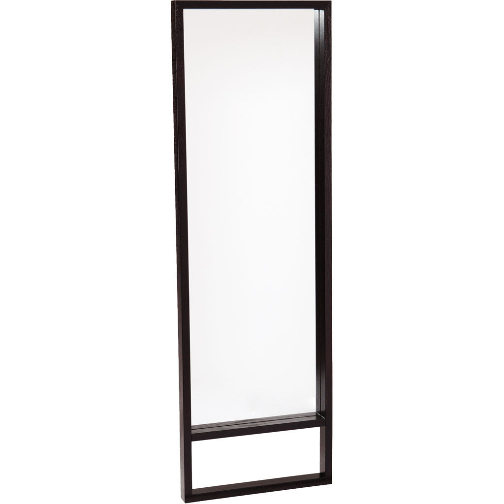 Jules Leaning Mirror Ebony Stain