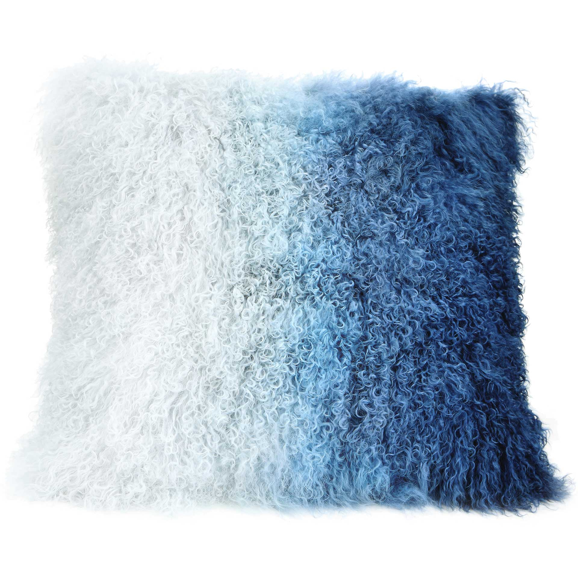 Lars Fur Pillow Blue Spectrum