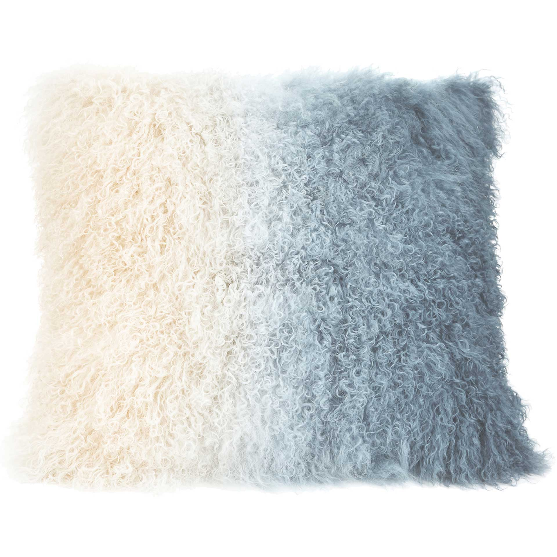 Lars Fur Pillow Light Blue Spectrum