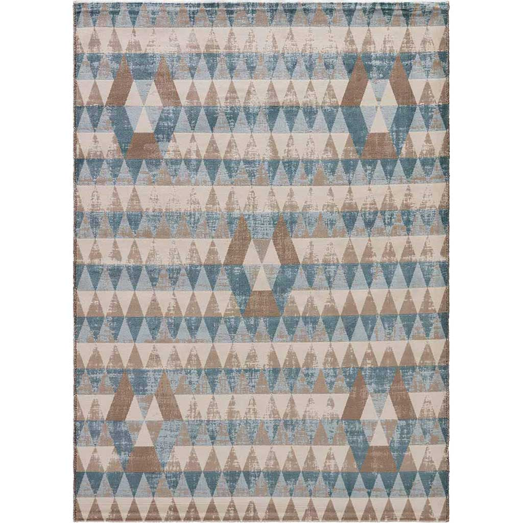 Zane Payne Neutral/Blue Area Rug