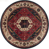 Ancient Treasures Burgundy/Navy Round Rug