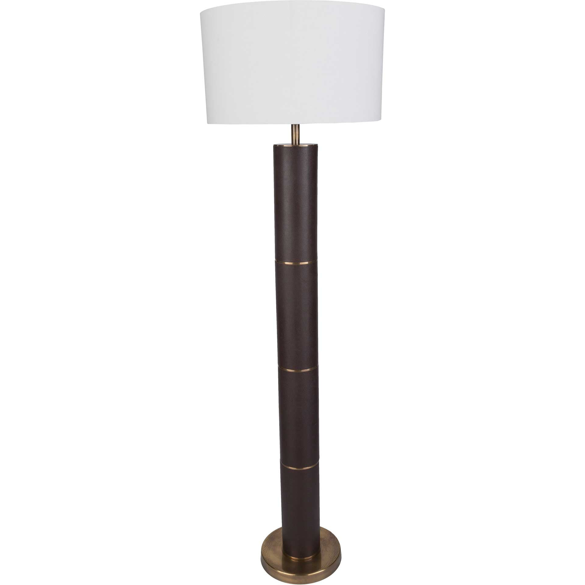 Anakin Floor Lamp Dark Brown/White