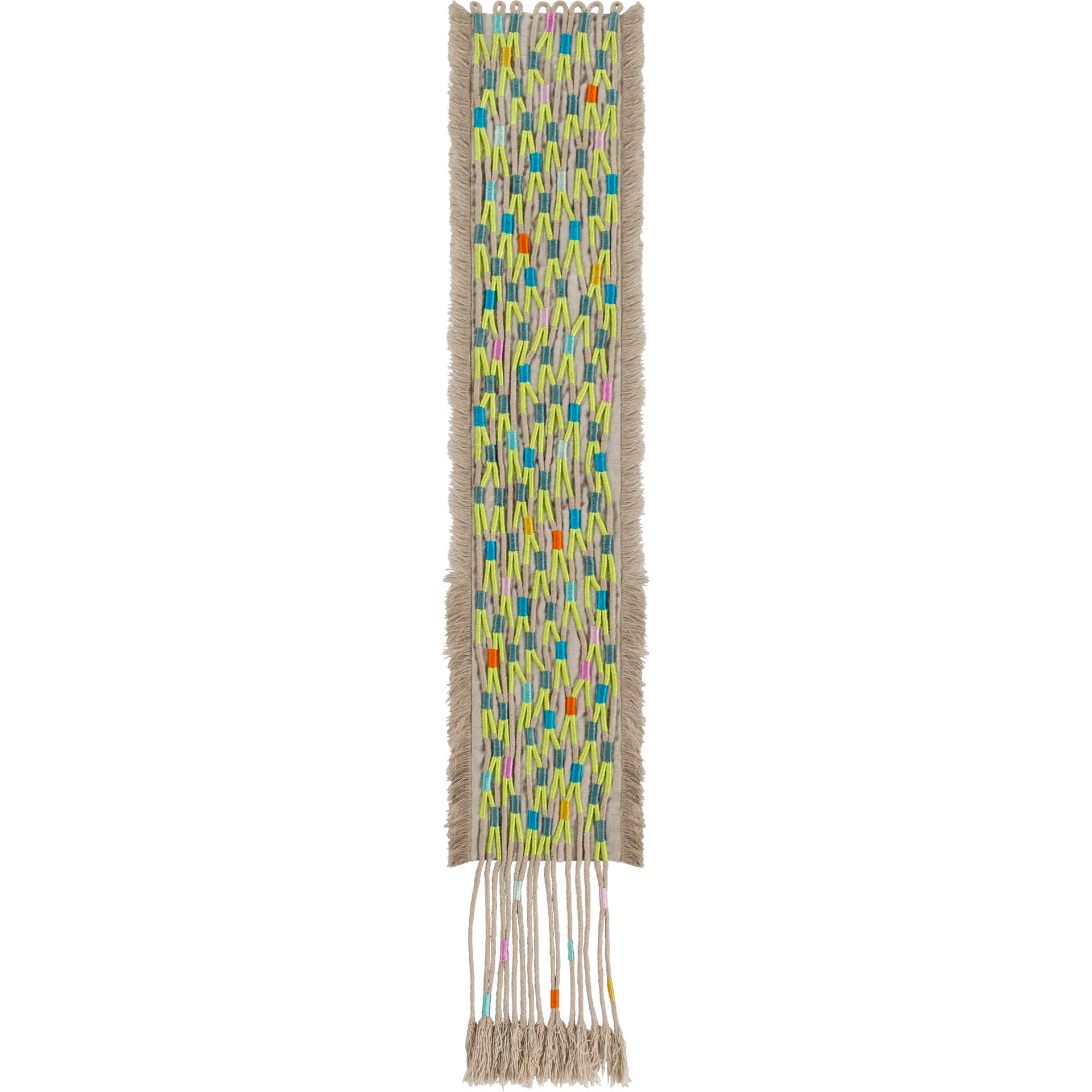 Ashley Wall Hanging Beige/Lime/Teal