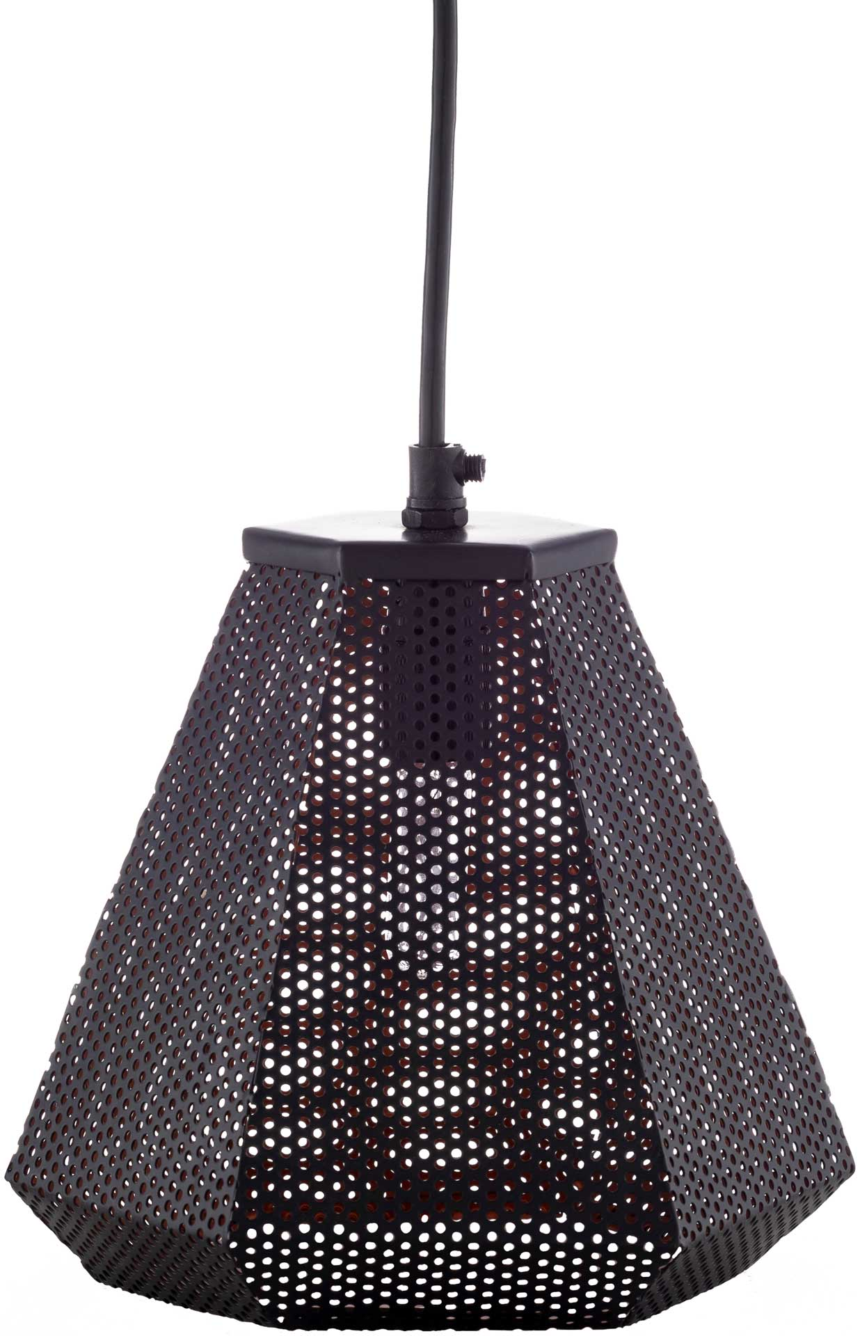 Adele Geometric Ceiling Lamp Black
