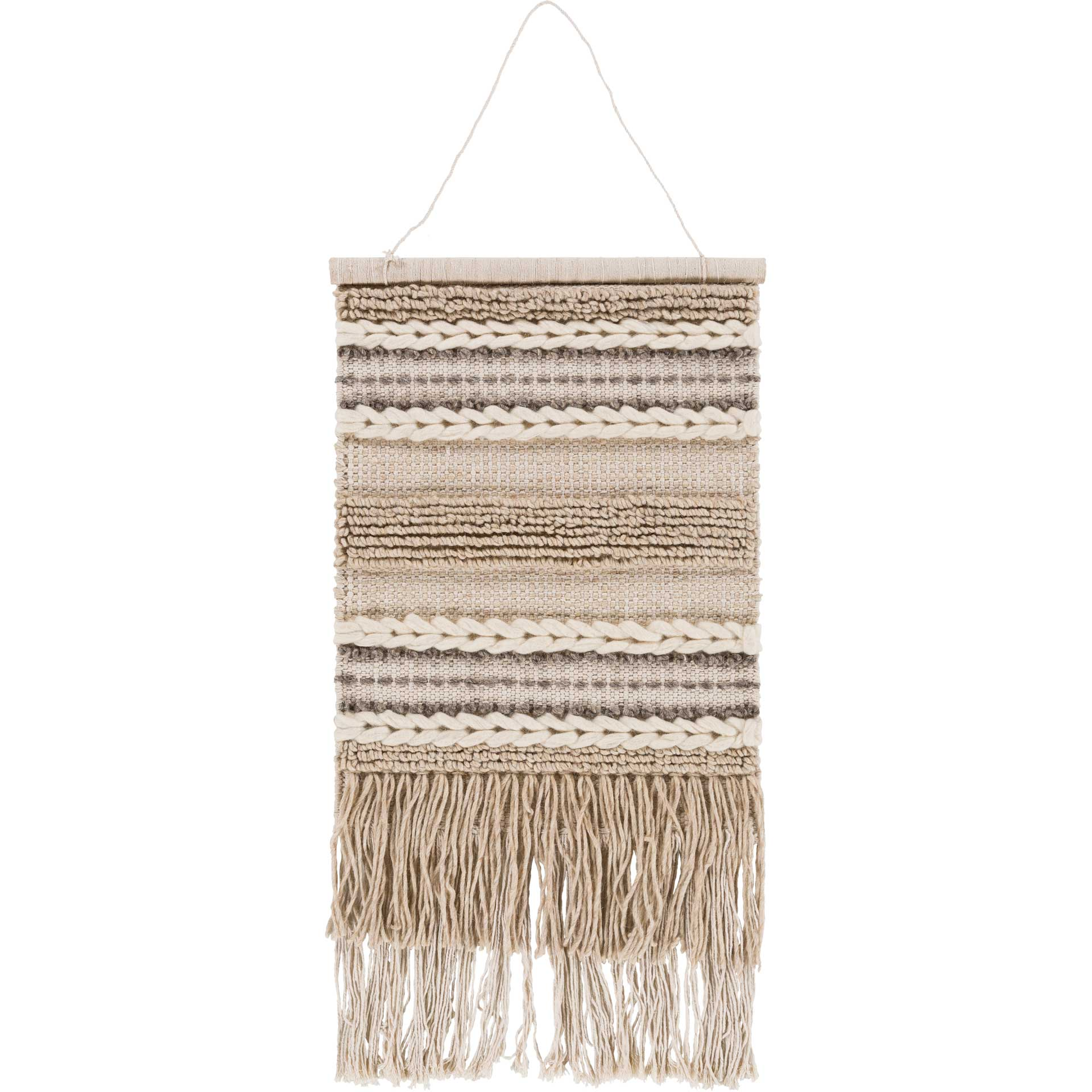 Addison Wall Hanging Khaki/Cream/Beige
