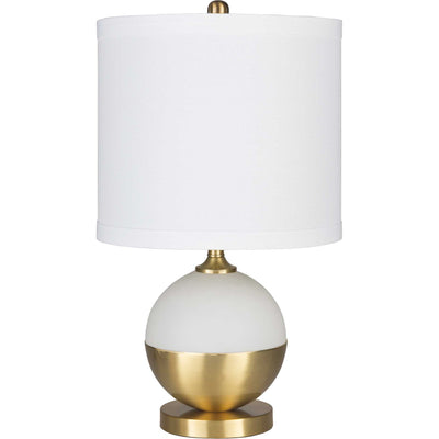 Alexander Table Lamp White/Brass