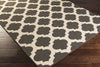 Alfresco Lattice Black/Beige Area Rug