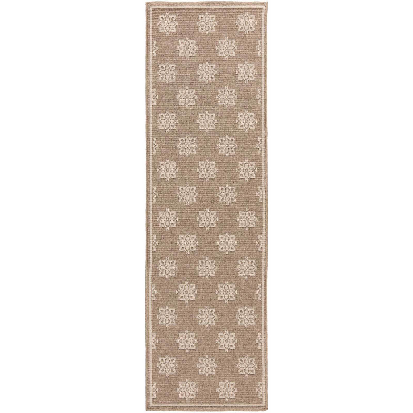 Alfresco Finish Taupe/Beige Runner Rug