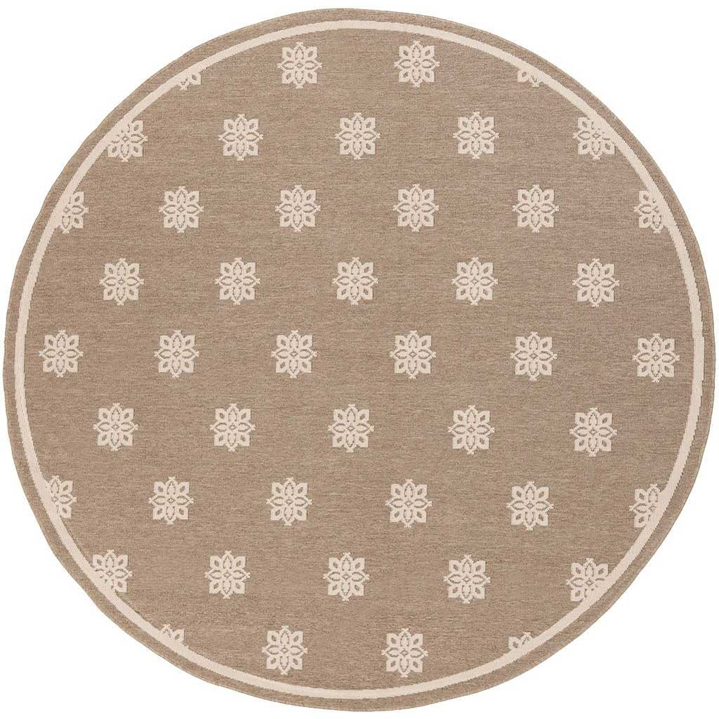 Alfresco Finish Taupe/Beige Round Rug
