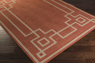 Alfresco Cherry/Taupe Area Rug