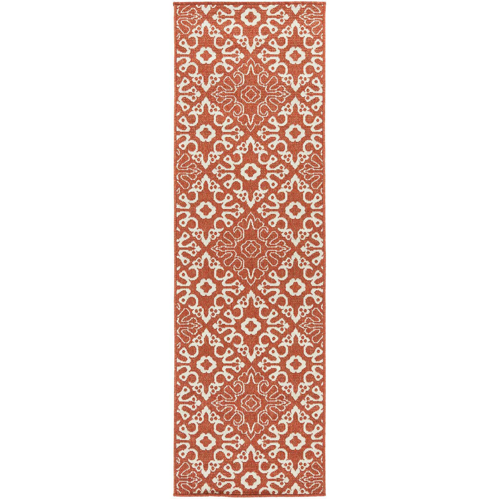 Alfresco Cherry/Beige Runner Rug