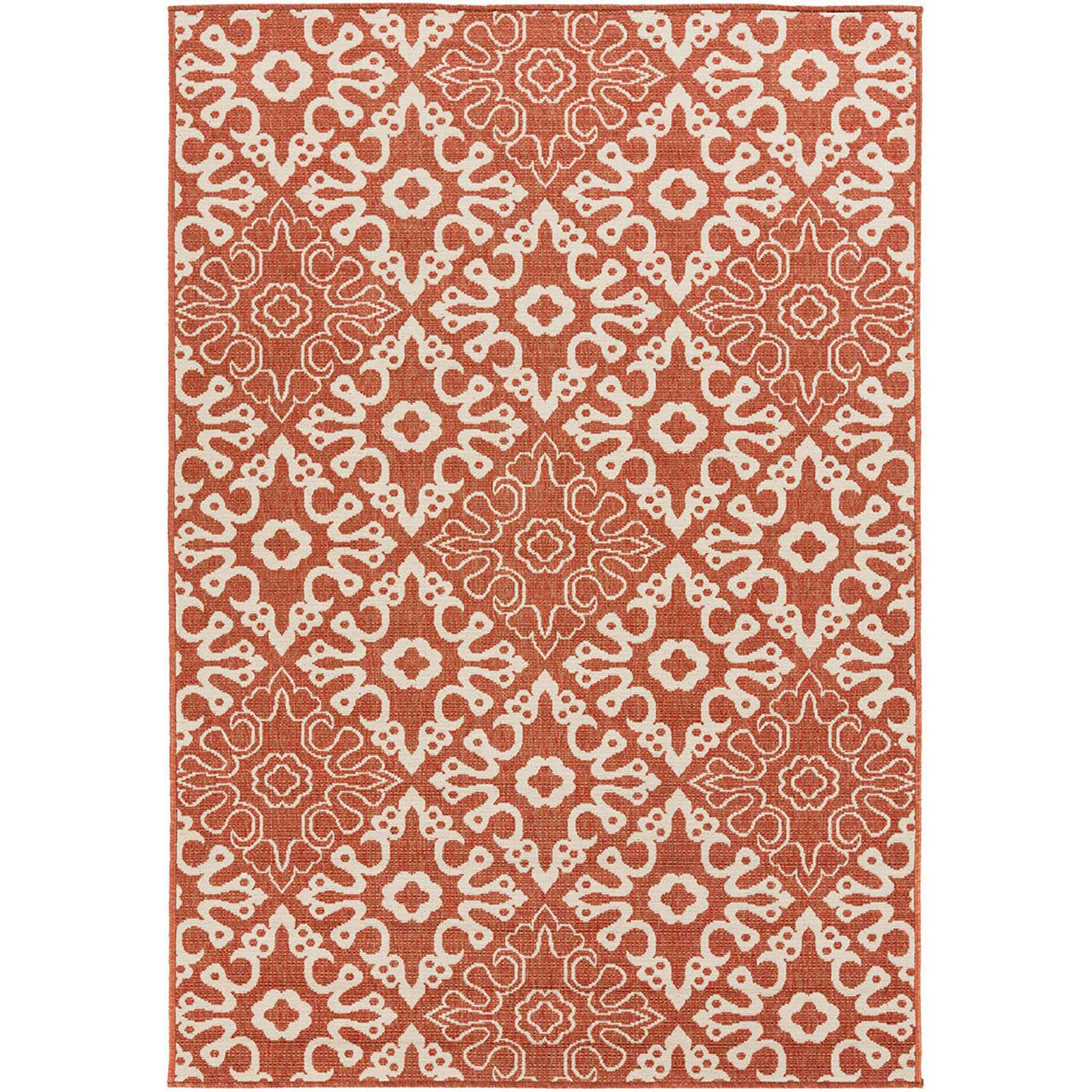 Alfresco Cherry/Beige Area Rug