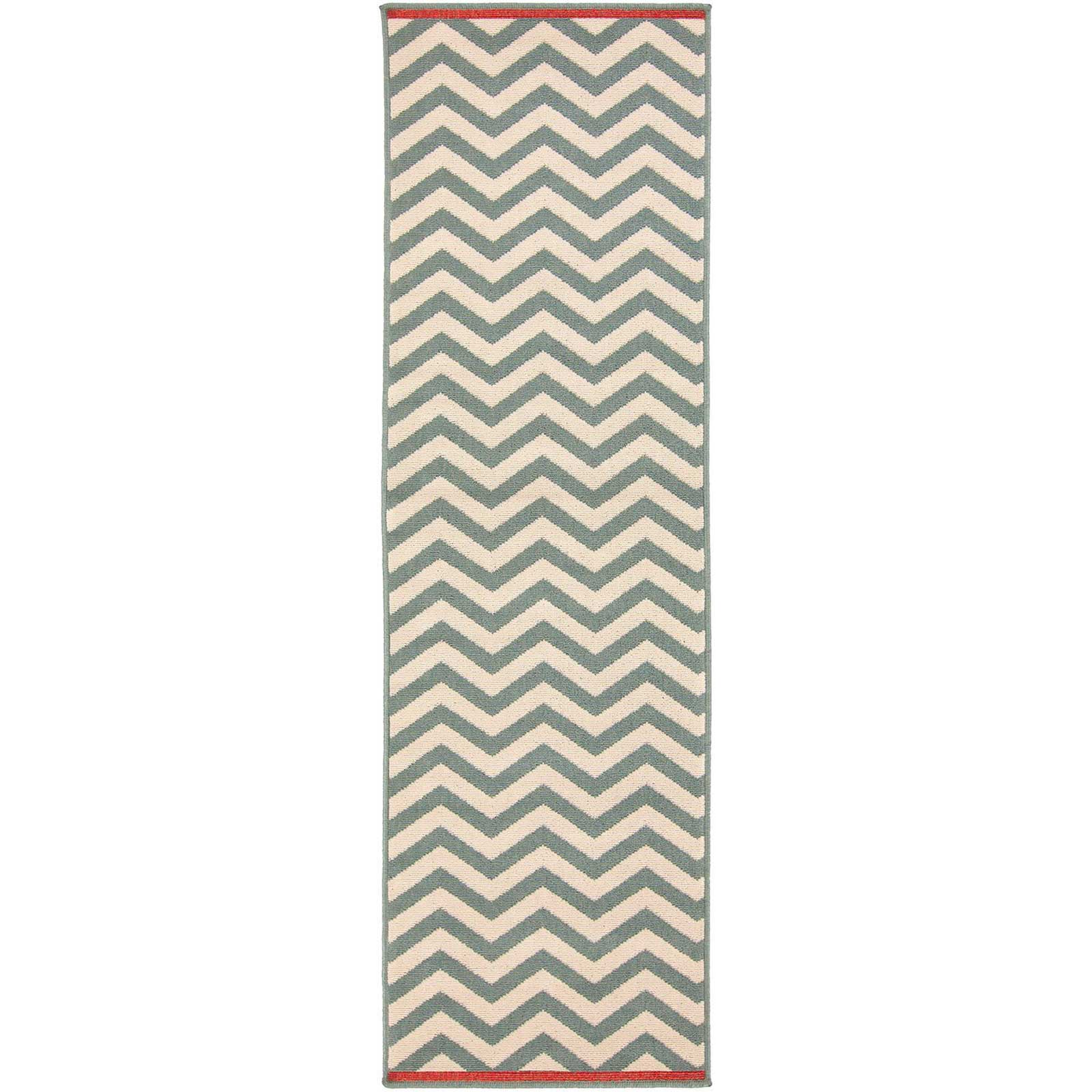 Alfresco Moss/Ivory Runner Rug