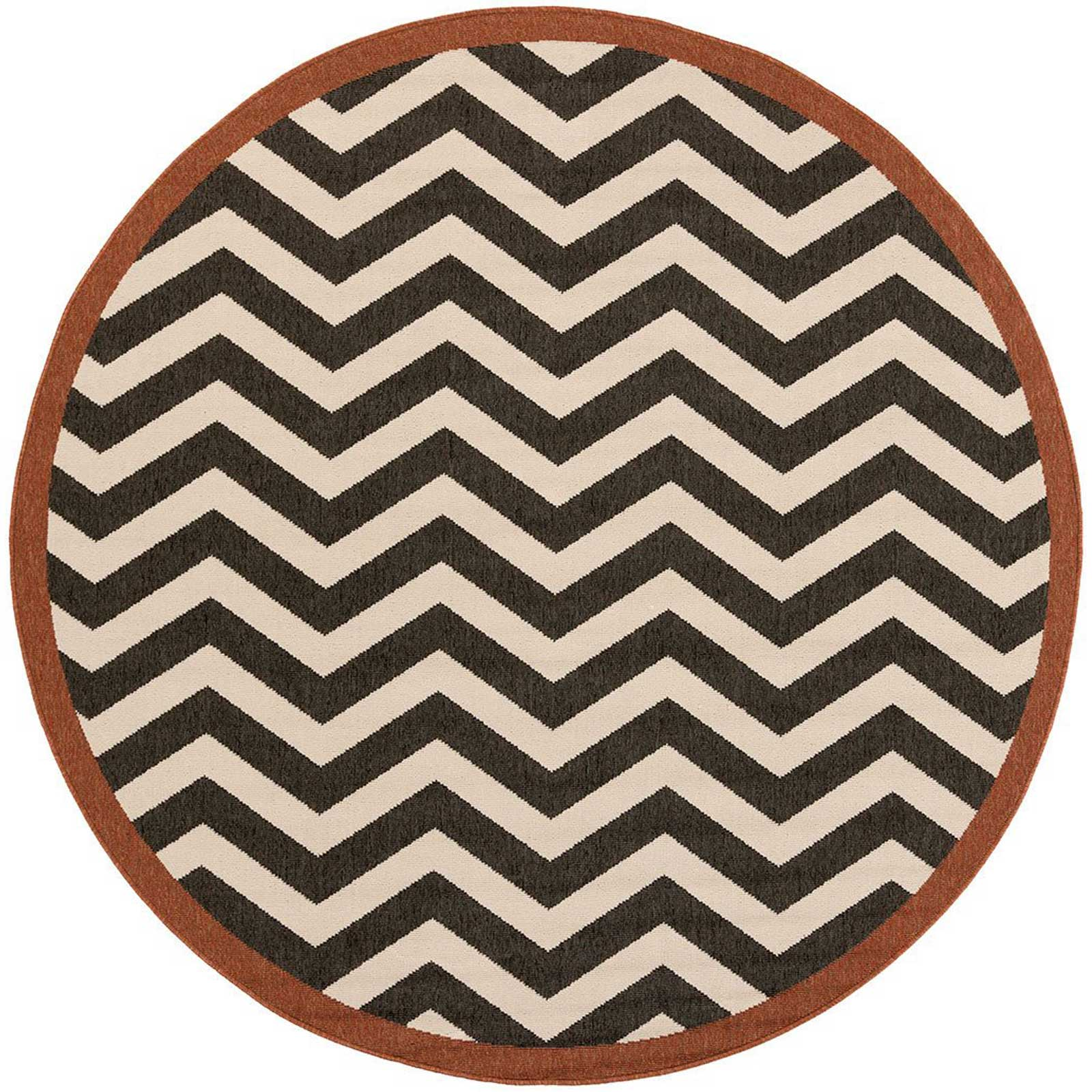 Alfresco Black/Beige Round Rug