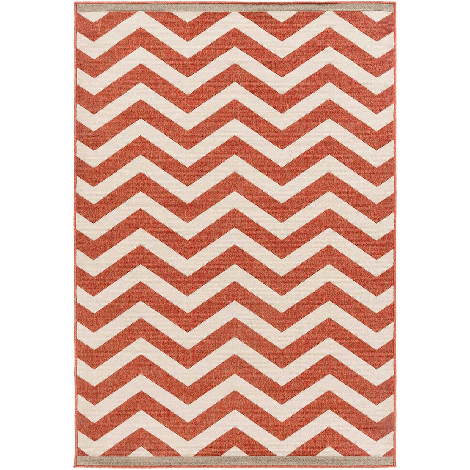 Alfresco Cherry/Ivory Area Rug