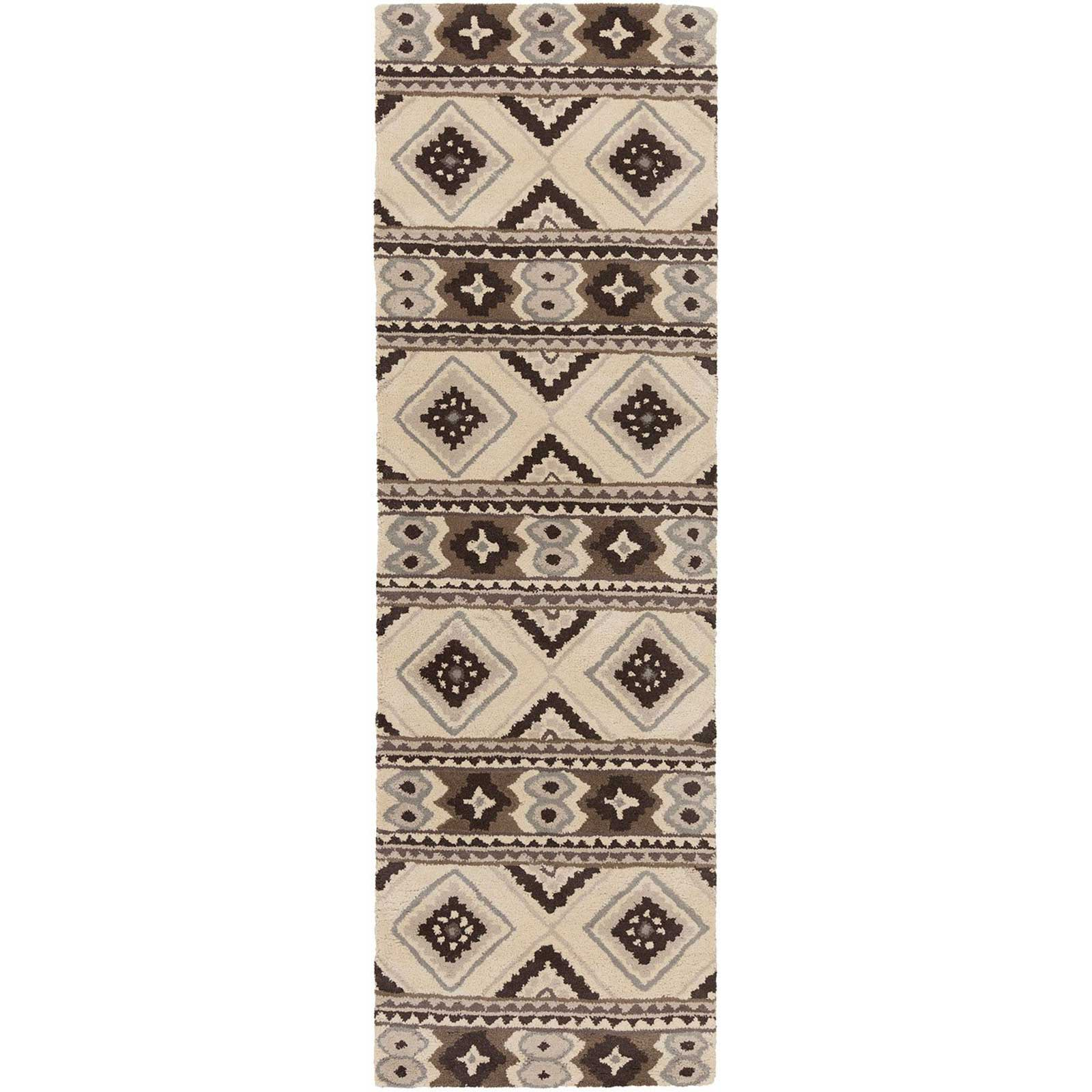 Albuquerque Light Gray/Beige Runner Rug