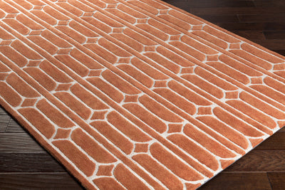Alexandra Bright Orange/Burnt Orange/Khaki Area Rug