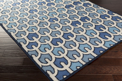 Alameda Light Gray/Navy Area Rug