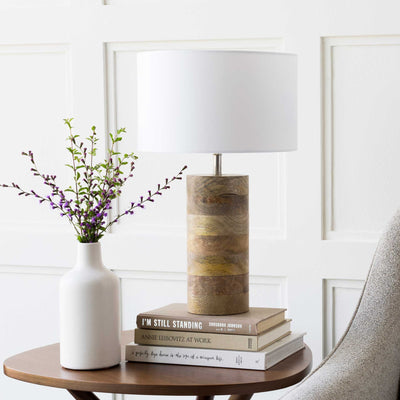 Archer Table Lamp White/Natural