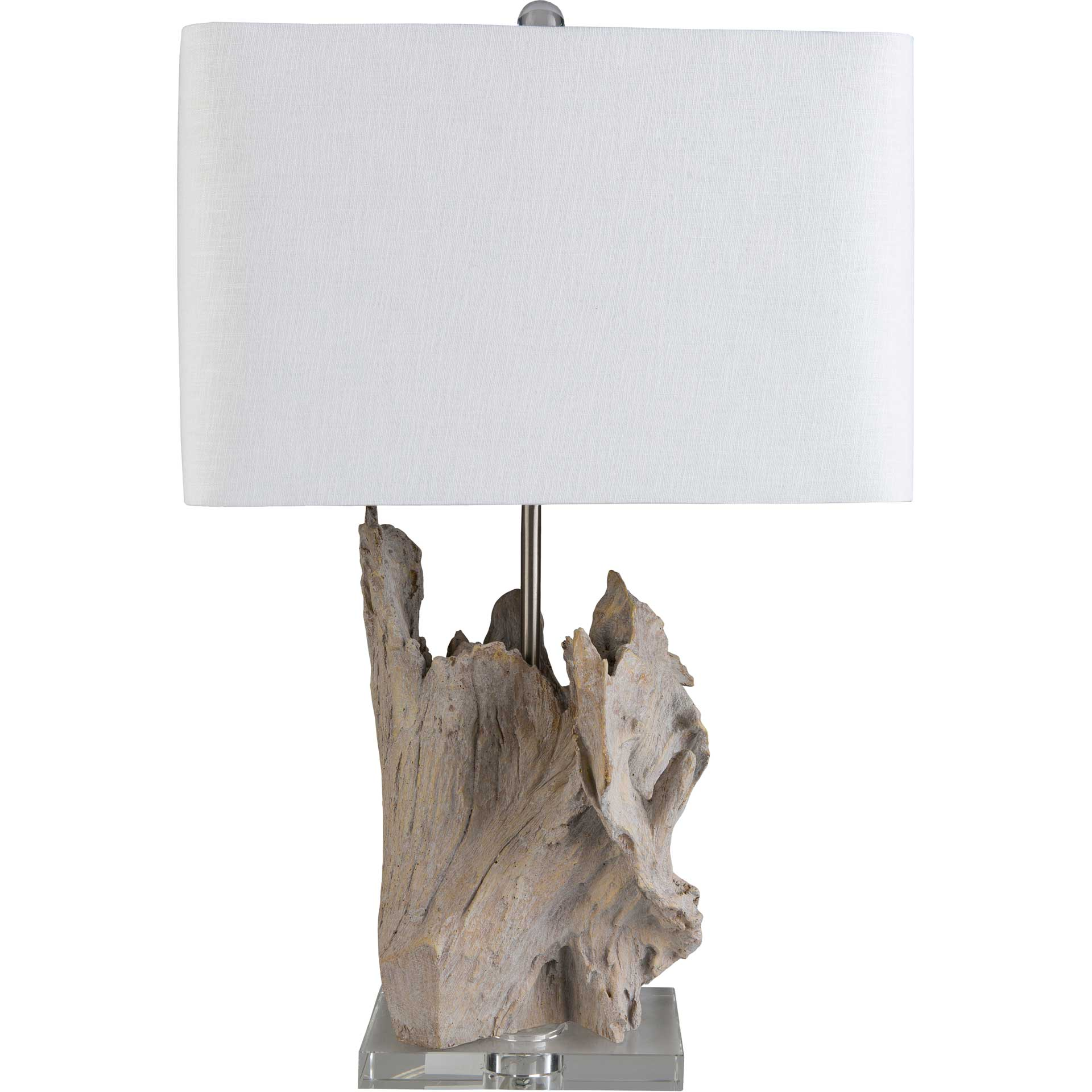 Dalilah Table Lamp White/Natural