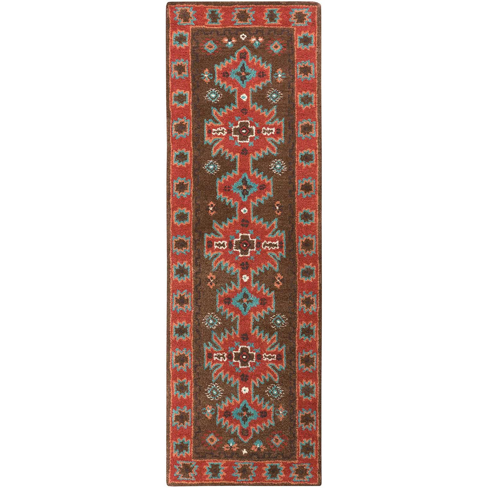 Arizona Chocolate/Rust Runner Rug