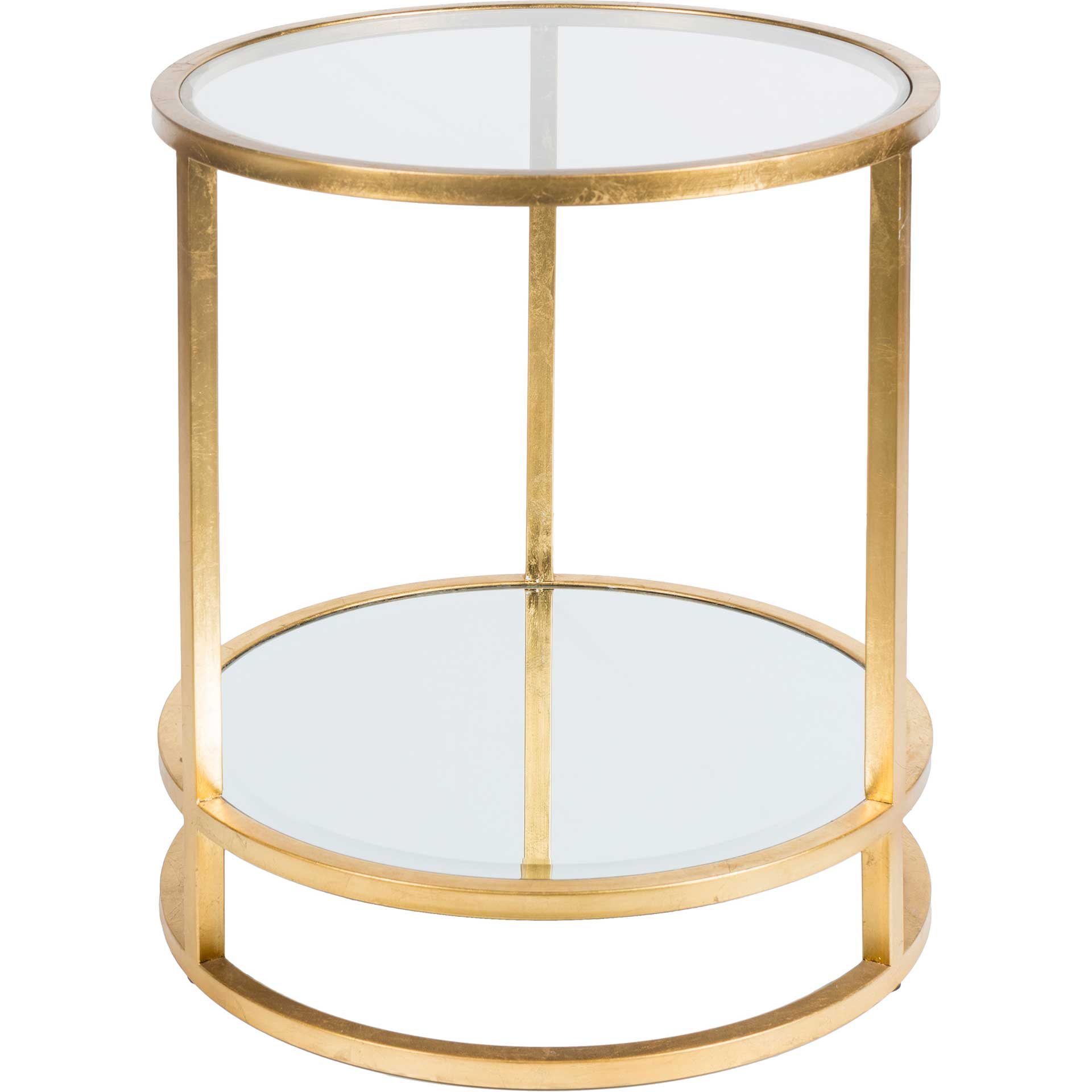 Asher Side Table Gold/Clear