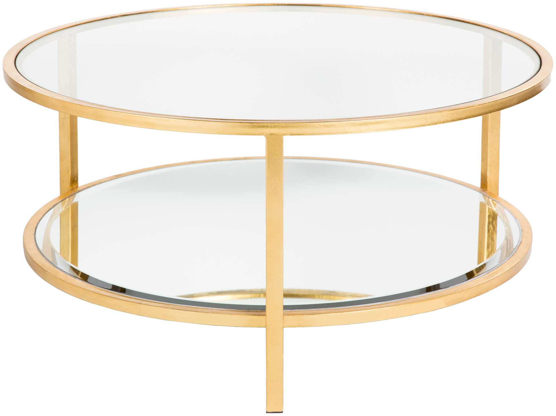 Asher Coffee Table Gold/Clear