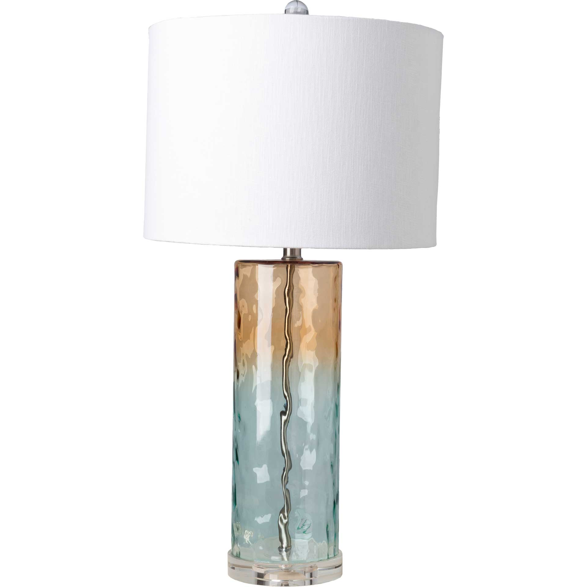 Ava Table Lamp Camel/White/Aqua