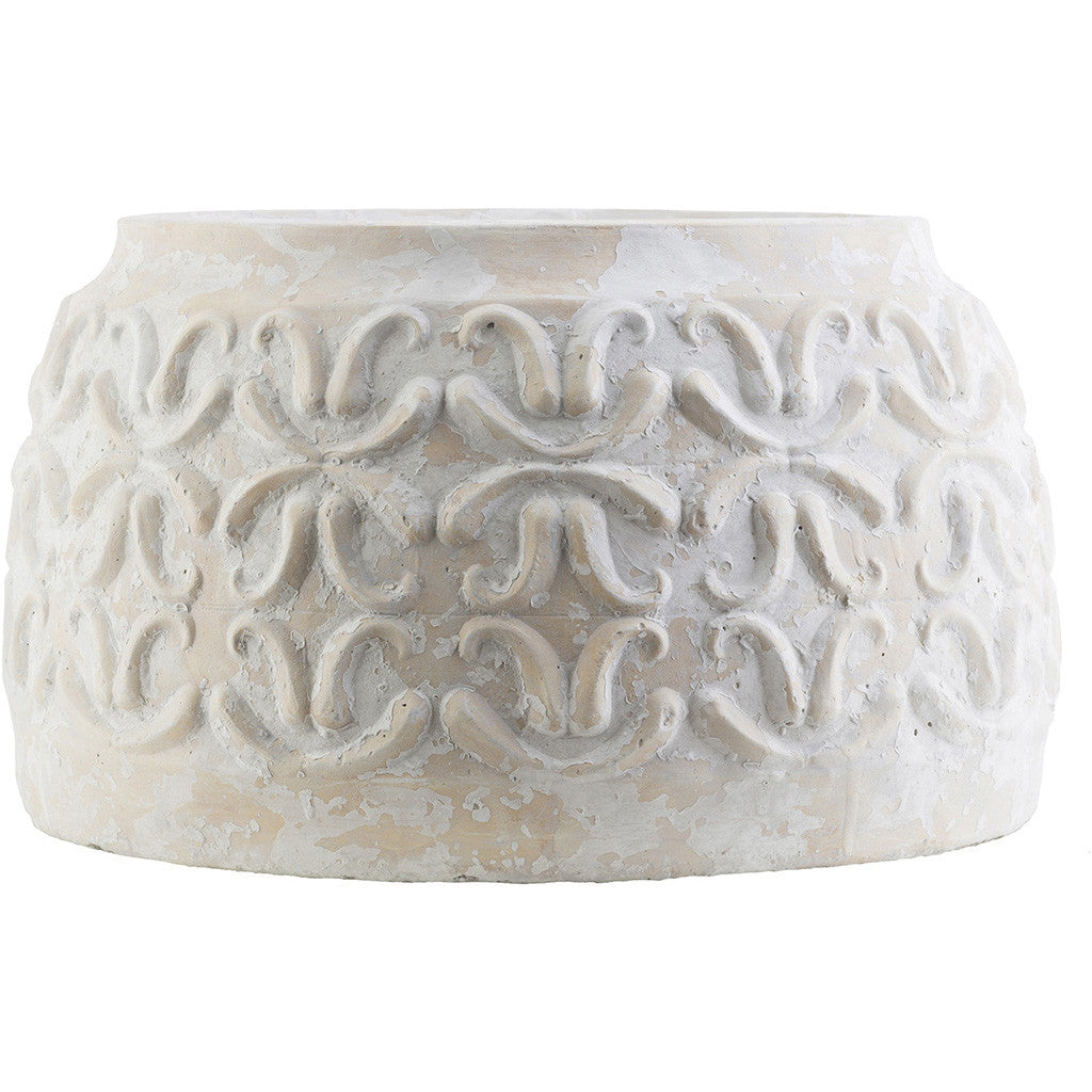 Avonlea Ceramic Pot Ivory