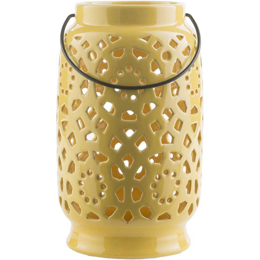 Avery Ceramic Lantern Gold