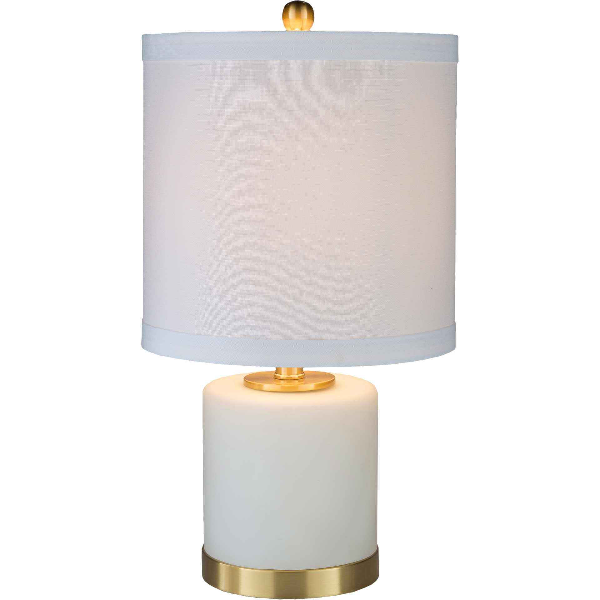 Ayaan Table Lamp White/Brass