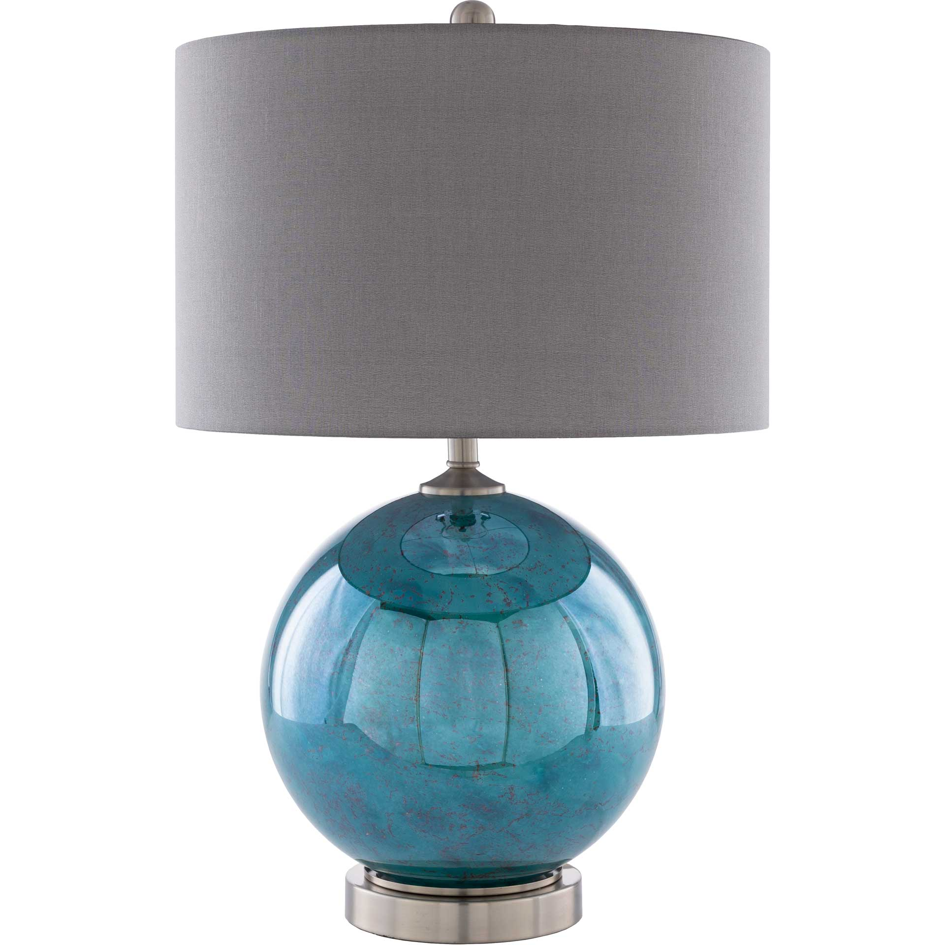 Azariah Table Lamp Charcoal/Emerald/White