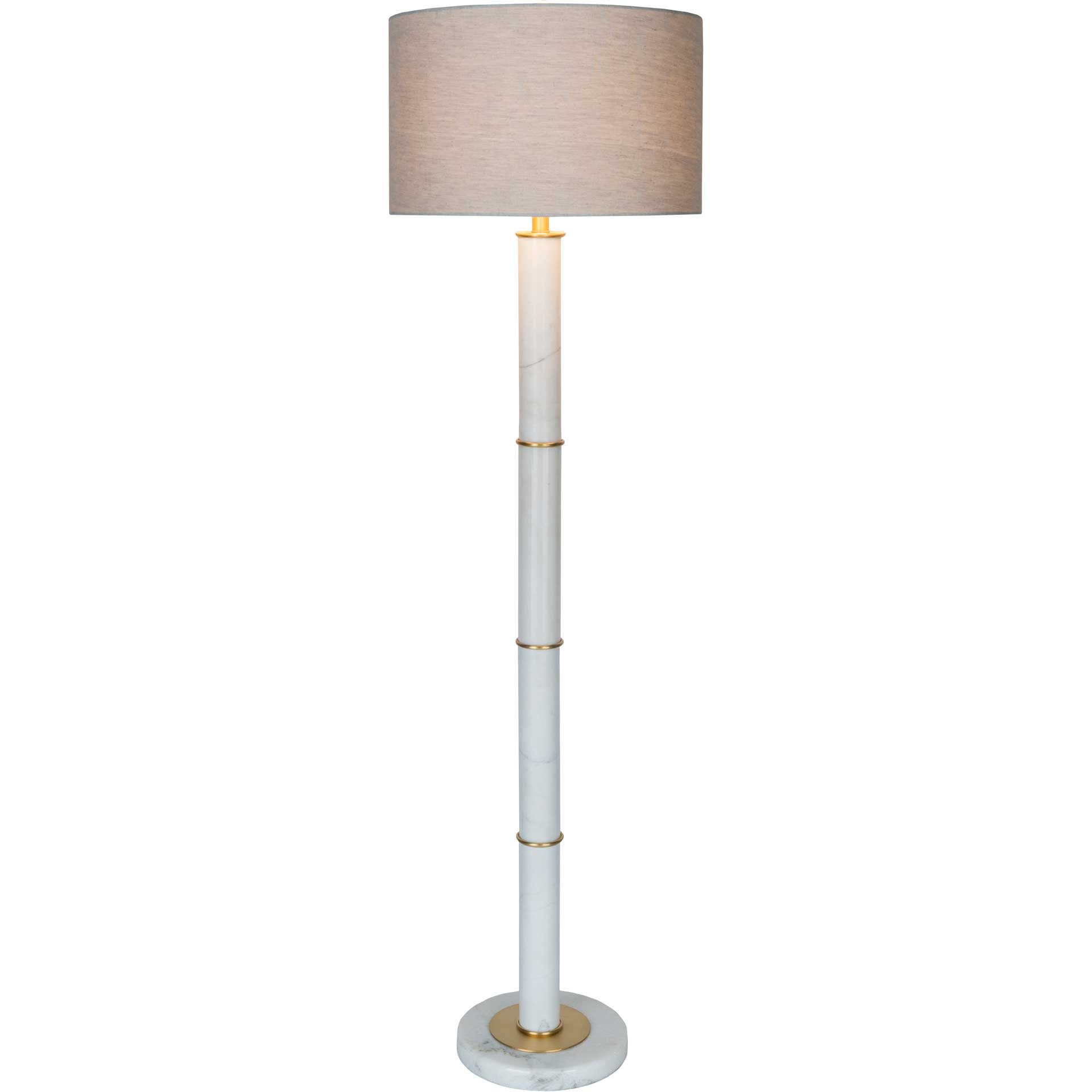 Brentley Floor Lamp Medium Gray/White/Beige