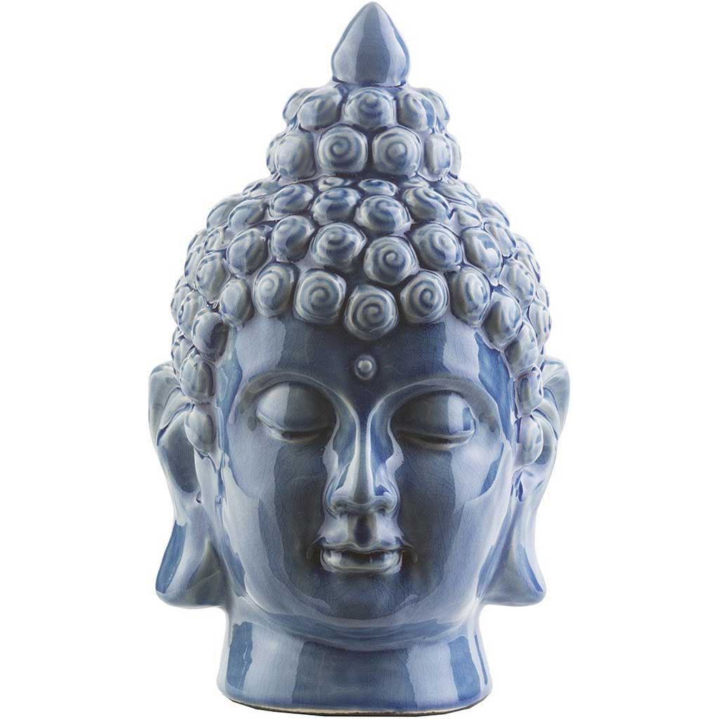 Ceramic Buddha Cobalt Medium