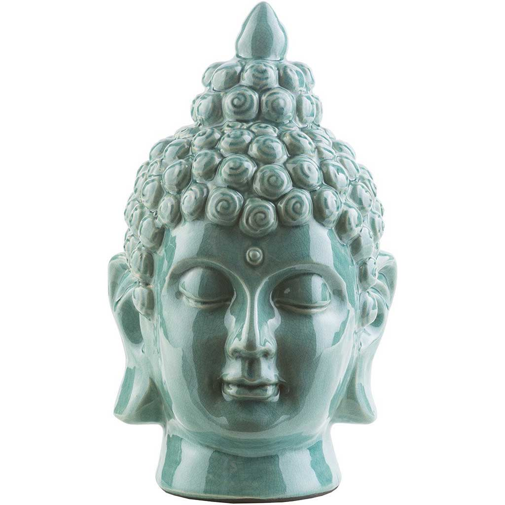 Ceramic Buddha Teal Medium