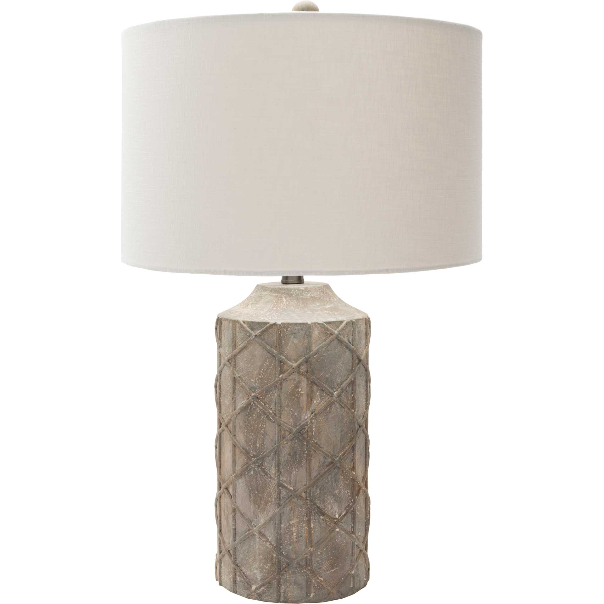 Braxton Table Lamp Camel/Ivory/Taupe