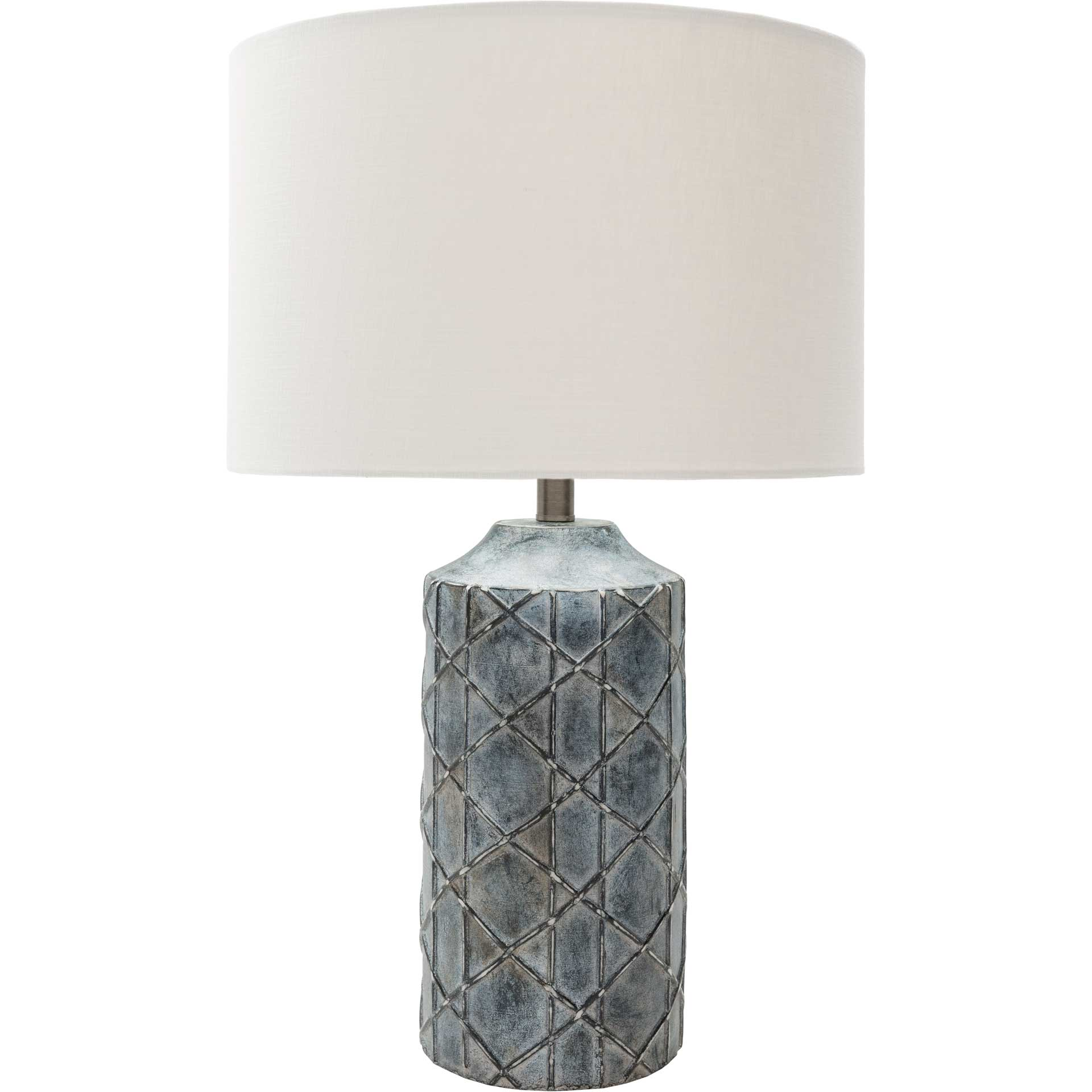 Braxton Table Lamp Charcoal/White/Slate Gray
