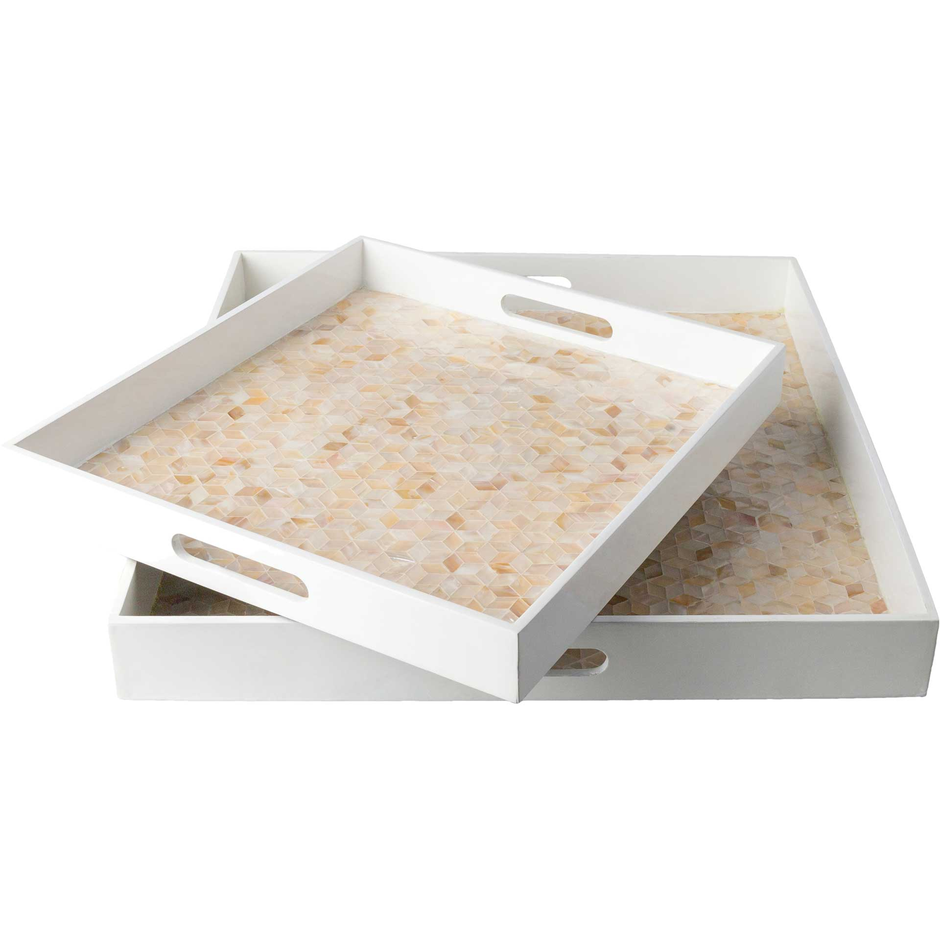 Belle Tray White/Butter/Beige