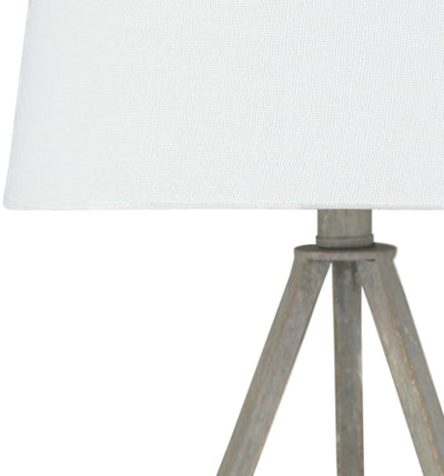 Bella Table Lamp White/Gray