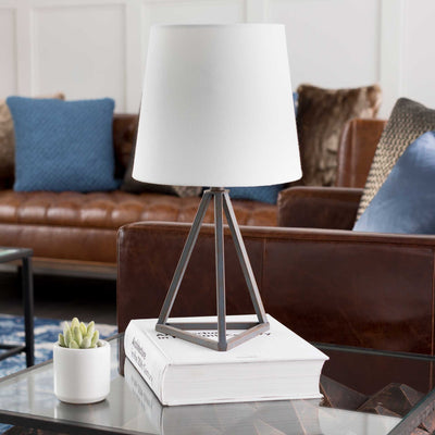 Bella Table Lamp White/Black