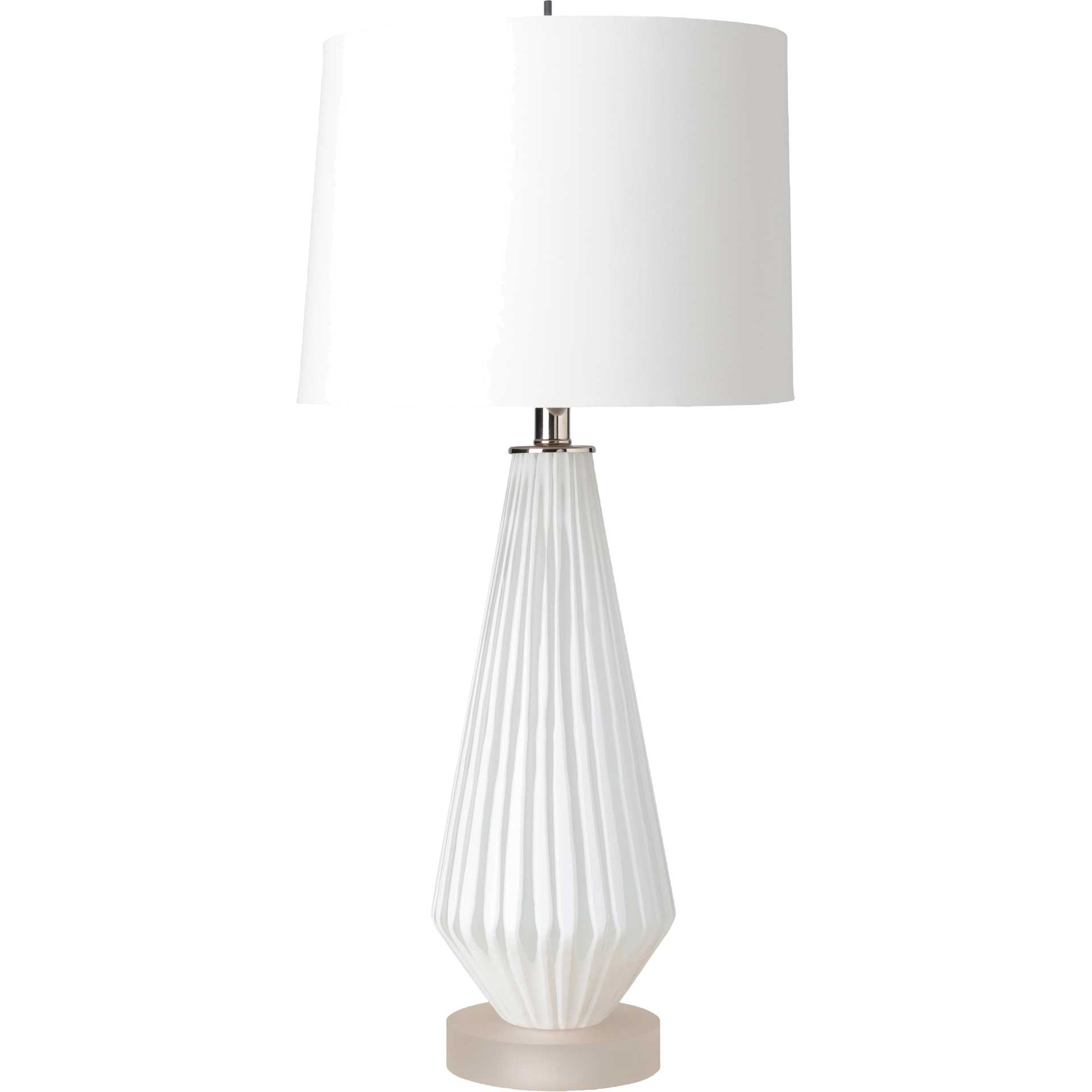 Brock Table Lamp White
