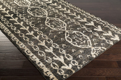 Bjorn Black/Khaki/Dark Brown Area Rug