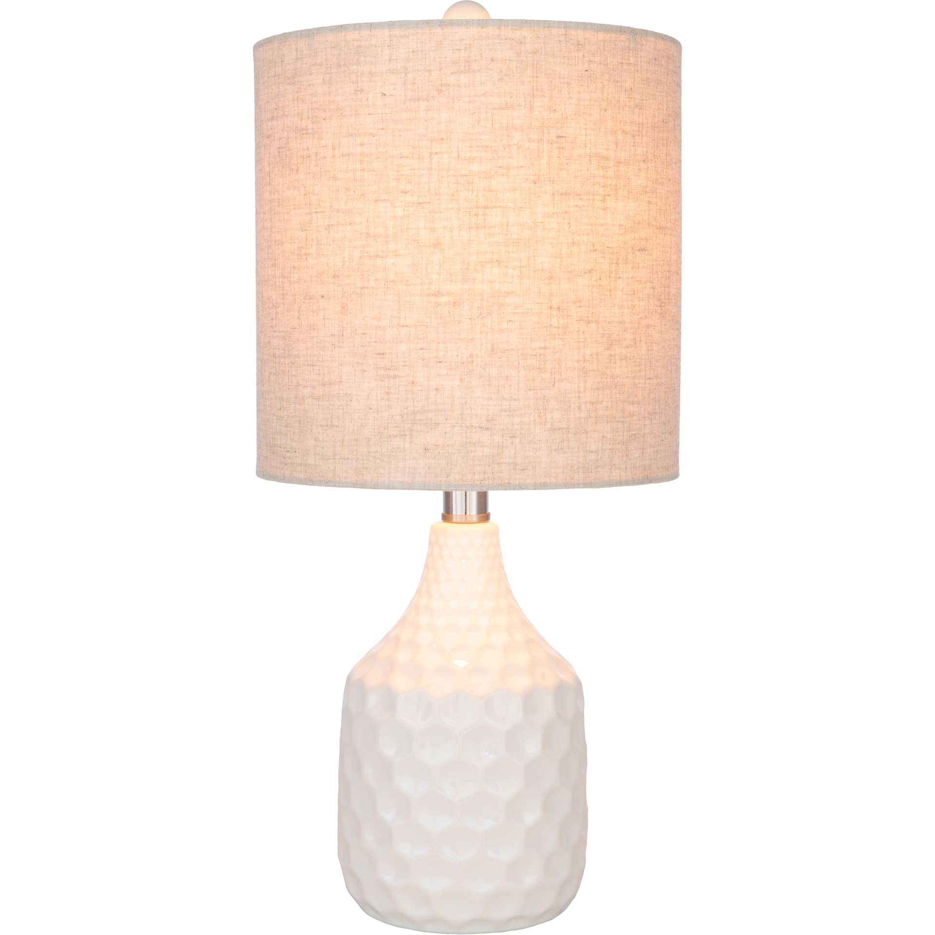 Blaze Table Lamp Ivory/White/Beige